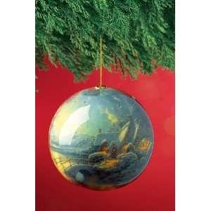 Thomas Kinkade Christmas Moonlight Light Up Decoupage