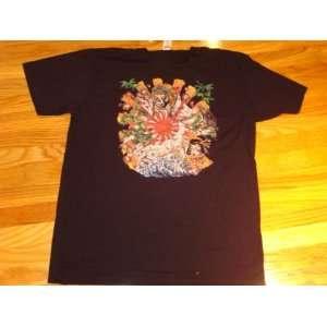 Ed Hardy Black Japan Scratched T shirt