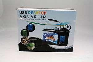 Mini Fish Tank Aquarium USB Desktop Multi Function bulk wholesale lot