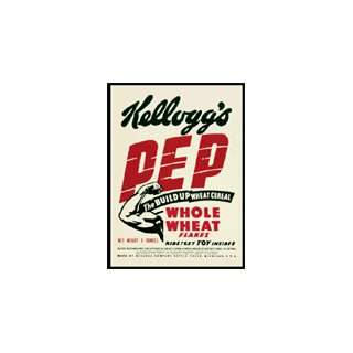 Vintage Kelloggs   Pep Build Up   Button Magnet: Kitchen