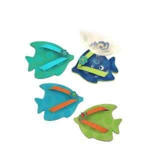 Fish Flip Flop Shoe Wine Glass Coaster Set Kitchen