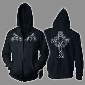 VERITAS AEQUITAS ~ ZIPPER HOODIE Boondock Saints Guns ALL SIZES