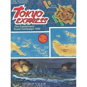 TOKYO EXPRESS VICTORY GAMES PUNCHED BOARD GAME Everything