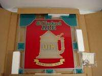 Pabst Old Tankard Ale Stained Glass Beer Sign Mint in Box