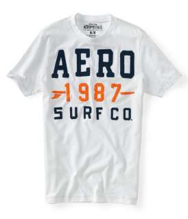 aeropostale mens aero 87 surf co. graphic t shirt |