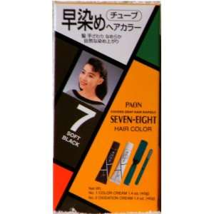 Paon Seven Eight Permanent Hair Color Kit 7 Soft Black
