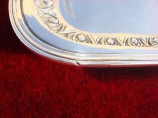 BEST GREEK SOLID STERLING SILVER 925 HAMMERED TEA SERVICE TRAY PLATTER