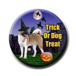 Akita Halloween Pin Badge Button No 1