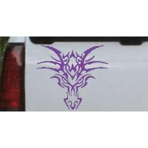Purple 26in X 23.6in    Tribal Dragon Car Window Wall Laptop Decal