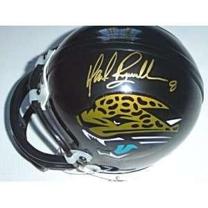 Mark Brunell Autographed Jaguars Mini Helmet (Gold