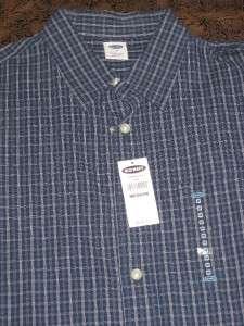 Mens Old Navy Long Sleeve Blue Button Down Shirt Shirts Medium New