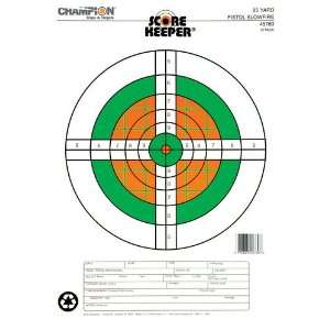 Champion Scorekeeper Paper Target Fluorescent Orange Green
