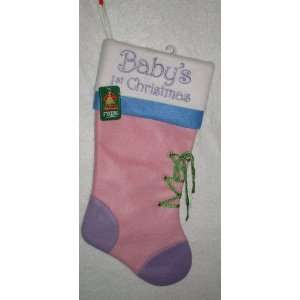 Holiday Traditions   Baby 1st Christmas Stocking