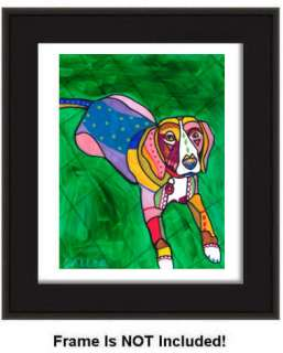 ART Original Painting Dog Heather Galler Modern Dogs Pop Art Paintings