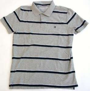 Nautica Jeans Co. Mens Gray with Black Stripes Polo Shirt Size 3XLarge