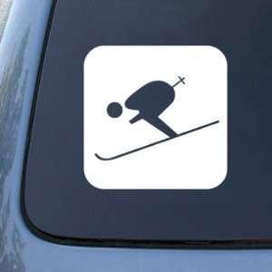 Skiing Sign   Skier Ski   Car, Truck, Notebook, Vinyl Decal Sticker