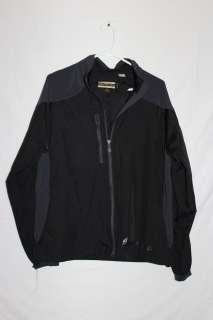 Womens North End Black Full Zip Light Jacket Size Large