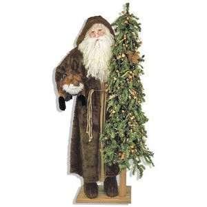 57 Ditz Father Christmas Santa Old World Robe and Fox