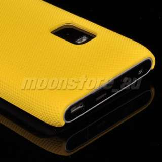 NEW DESIGN HARD MESH CASE COVER FOR NOKIA E7 YELLOW