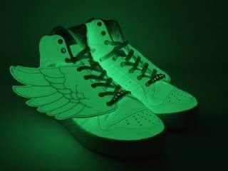 Originals ObyO Jeremy Scott Wings Glow in the Dark GID US 11 UK 10.5