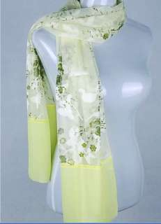 fashion women 100% silk long dress scarf shawl wrap Christmas gift NIB