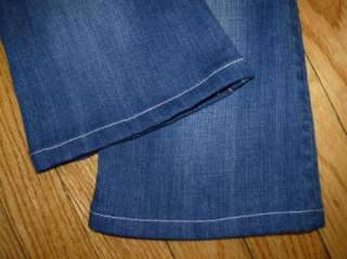 Girls MISS ME Jeans Flap Pockets Bling Size 7 (Hemmed to 22 Length