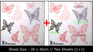 BUTTERFLY Window/Tile Wall Vinyl Sticker Decal IW 01