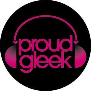 Button Pin Badge Glee Proud Gleek
