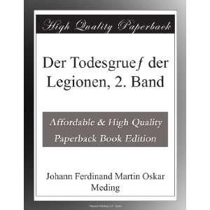 Band (German Edition) Johann Ferdinand Martin Oskar Meding Books