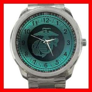 Marine Corp Army Silvertone Sports Metal Watch