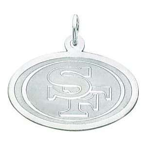 14K White Gold NFL San Francisco 49Ers Logo Charm: Sports & Outdoors