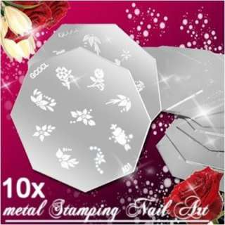 Wholesale Lot 10 Templates 90 Designs Nail Art Stamping Metal Plate