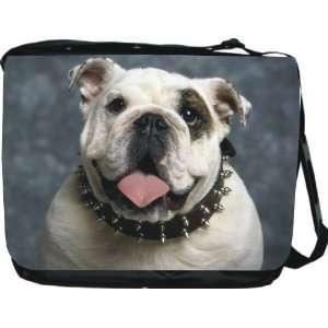 Rikki KnightTM English Bulldog Dog Design Messenger Bag   Book