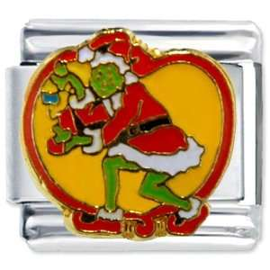 Grinch Stealing Christmas Licensed Italian Charms Bracelet
