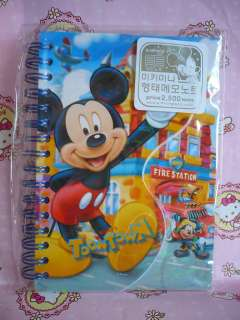 Disney Mickey Mouse Stationery Spiral Notebook Handbook