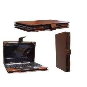 Navitech Brown Executive Premium Leather Flip Carry Case