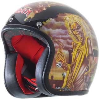 Maiden Vintage Harley Open Face Motorcycle Street Bike Helmet