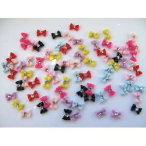 Nail Art 3d 80 Piece Mix Small BOW/RHINESTONE for Nails, Cellphones