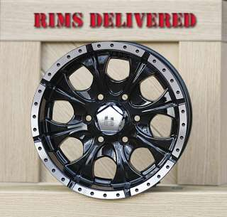 16 inch Black Wheel rims HELO Maxx 6 LUG GM CHEVY 1500