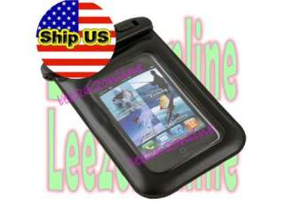 BLACK WATERPROOF HARD CASE COVER FOR APPLE IPHONE 4G