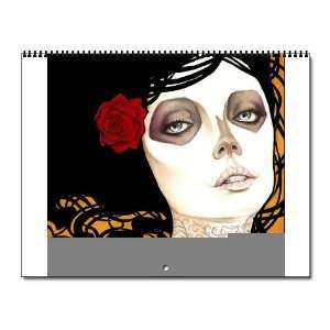 DAMAS DE MUERTE Skull Wall Calendar by CafePress: Office