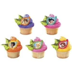 Disney Fairies Tinker Bell Leaf Cupcake Rings 12 Pack