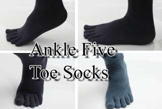 NEW Mens Ankle Five Toe SOCKS FINGER SHOES 4 pair