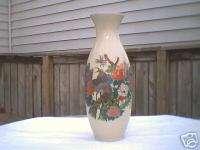 Antique Porcelain Miyako Japan Peacock Vase gold detail