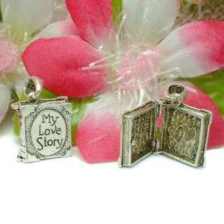 925 STERLING SILVER MY LOVE STORY BOOK LOCKET / PENDANT