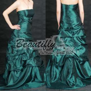 Christmas Teal Bridesmaid Prom Gown Party Dresses❀