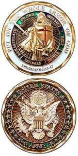 US ARMY MILITARY CHALLENGE COIN ARMOR OF GOD EPH 6 New