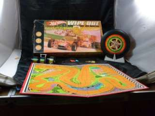 Mattel Hot Wheels Wipe Out Race Game 1968