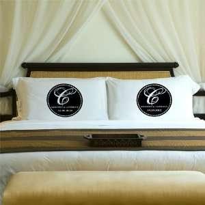 Monogram Pillow Case Set   Black