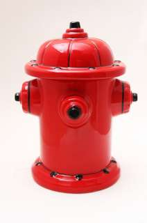 FIRE HYDRANT CERAMIC COOKIE JAR WORLD CUTEST KITCHEN ACCESSORY TOP LID